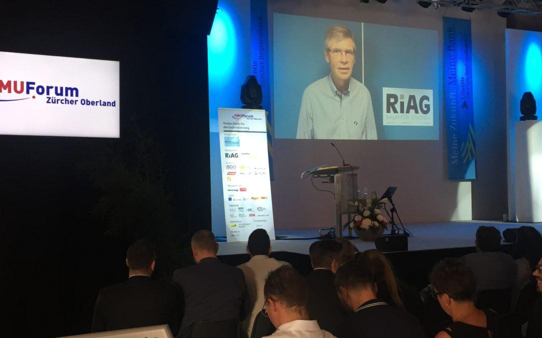 RiAG: Hauptsponsor des 10. KMU Forum Zürcher Oberland